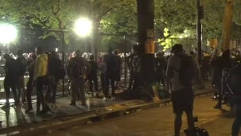 Protesters defy curfew, shake fencing around White House