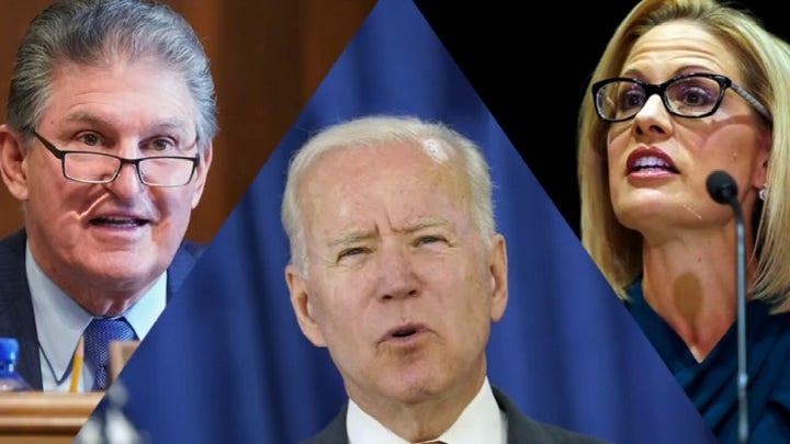 Biden calls on moderates for help as Manchin, Sinema flex political muscle