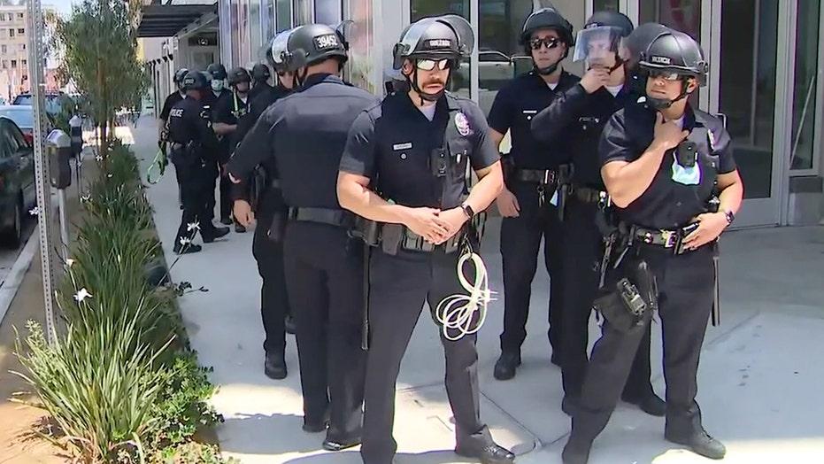 Los Angeles spa protest turns violent after alleged transgender exposure incident