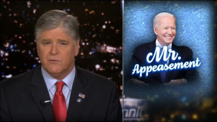 Hannity: Biden was unable to hold Putin accountable for anything
