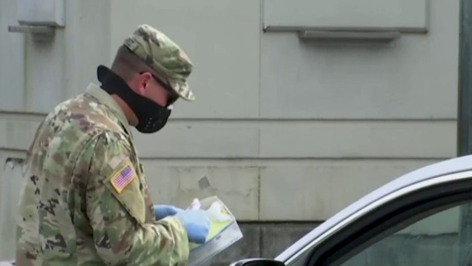Coronavirus response from US military