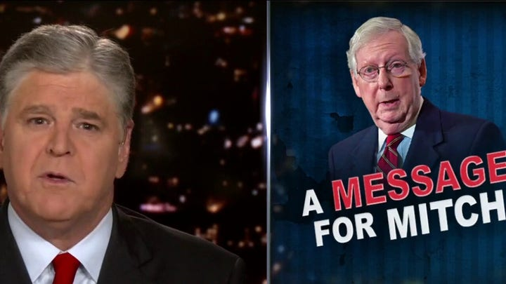 Hannity blasts McConnell over reported consideration of impeachment