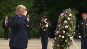 President Trump honors fallen troops on Memorial Day