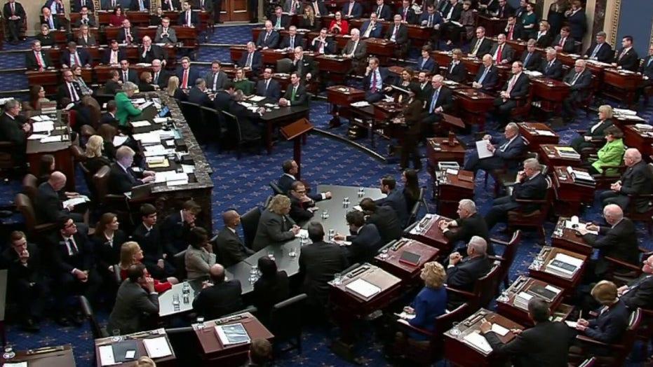 Senators vote 53-47 to acquit President Trump of obstruction of Congress at Senate impeachment trial