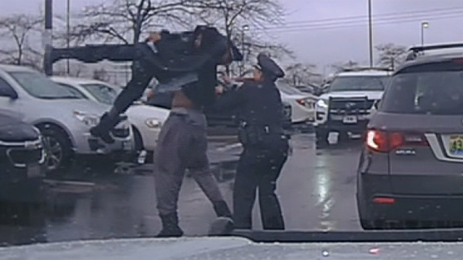 College football player body slams Ohio police officer, video shows