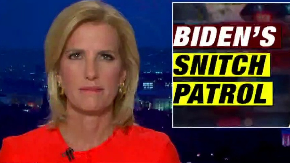 Ingraham: 'Sanctimonious snitches' turning Americans against each other in age of COVID, Biden