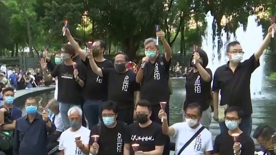 Hong Kong protesters defy police ban to remember Tiananmen Square massacre