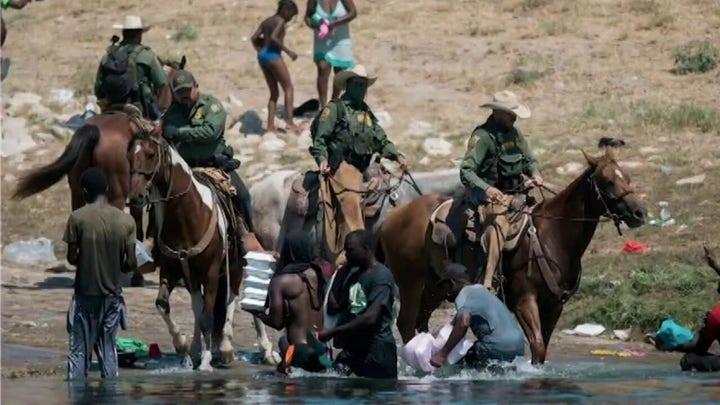 Biden pushes false narrative, blames Border Patrol over viral photos