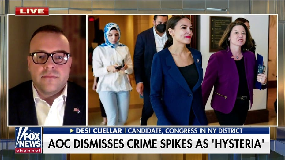 Veteran challenging Ocasio-Cortez for House seat, slams her 'disgraceful' remark on rising NYC crime
