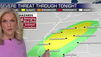 Strong storms across South, flood threat in Ohio River Valley