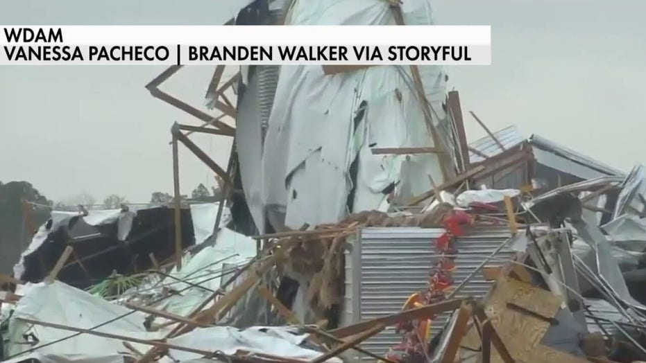 Severe storm damages buildings in Florida Panhandle