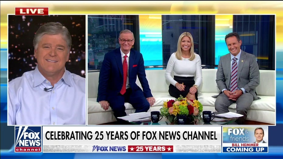 Sean Hannity celebrates Fox News' 25th anniversary with 'Fox & Friends': 'It's changed my life'