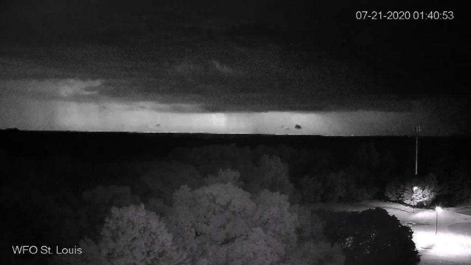 Dramatic lightning lights up the skies in Jefferson County, Missouri