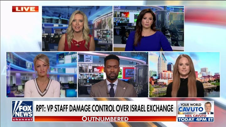 'Outnumbered' rips Vice President Kamala Harris after Israel exchange goes viral