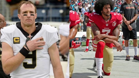 Drew Brees under fire for disagreeing with players that kneel during the national anthem