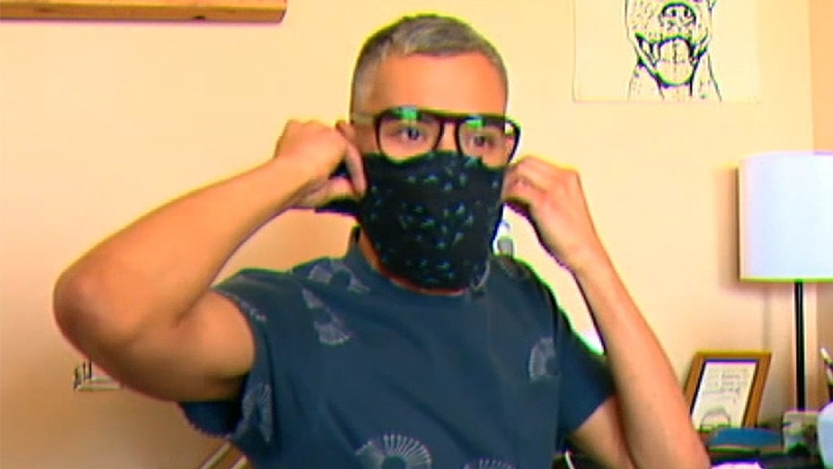 Dallas teacher using coronavirus stimulus check to sew masks for his students