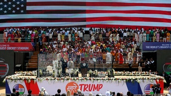 Massive crowds cheer Trump during state visit to India