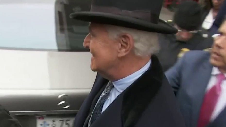 Roger Stone departs courthouse after being sentenced to more than 3 years in prison