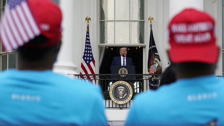 Trump receives mixed reaction to first event since coronavirus diagnosis