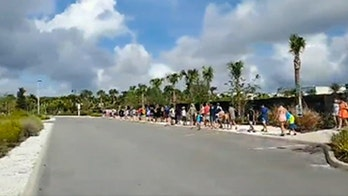 Long lines formed outside water park in Kissimmee, FL