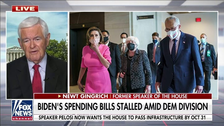 Democrats 'determined to hold infrastructure bill hostage': Newt Gingrich
