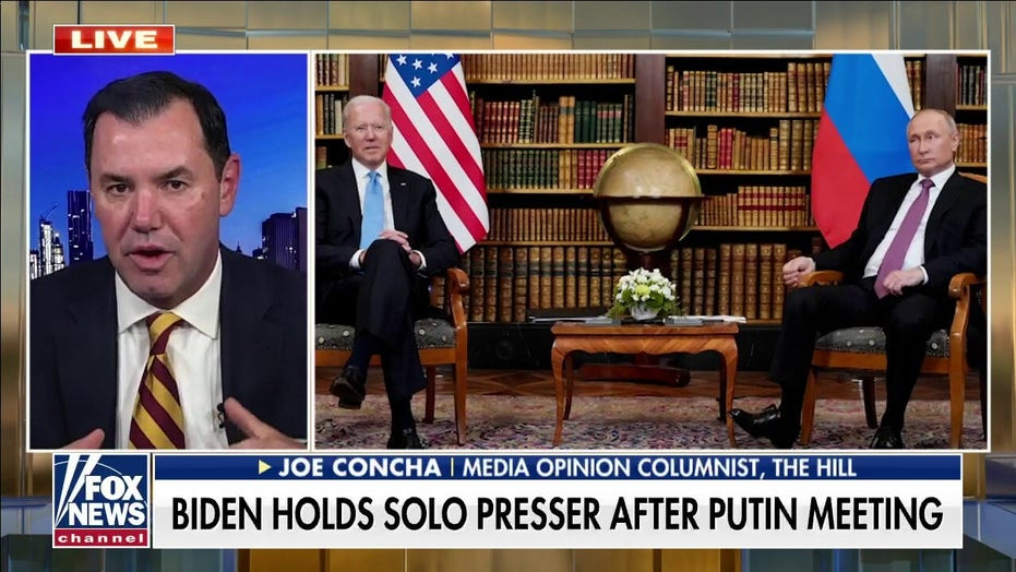 Biden avoided press conference with Putin because questions wouldn't be 'handpicked' by staff: Concha