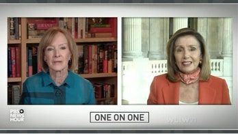 Pelosi spars with PBS' Judy Woodruff suggesting the anchor is being an 'advocate' for the GOP