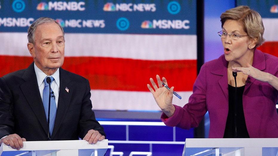 Warren pummels Bloomberg after brutal debate, vows he won't be nominee