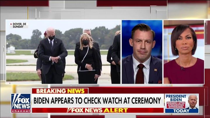 Joey Jones slams Biden for checking watch at ceremony remembering fallen heroes