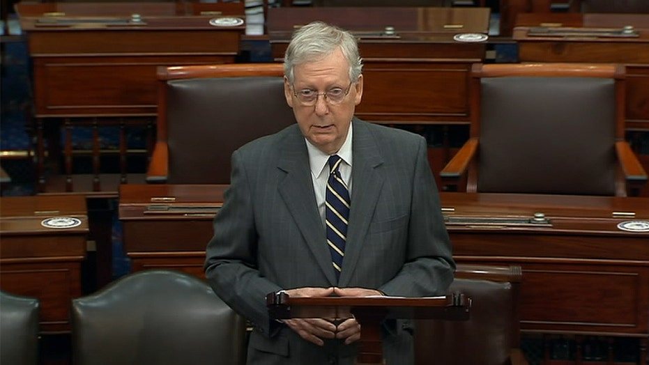 McConnell suggests Democrats are trying to 'sabotage' coronavirus bill for political gain