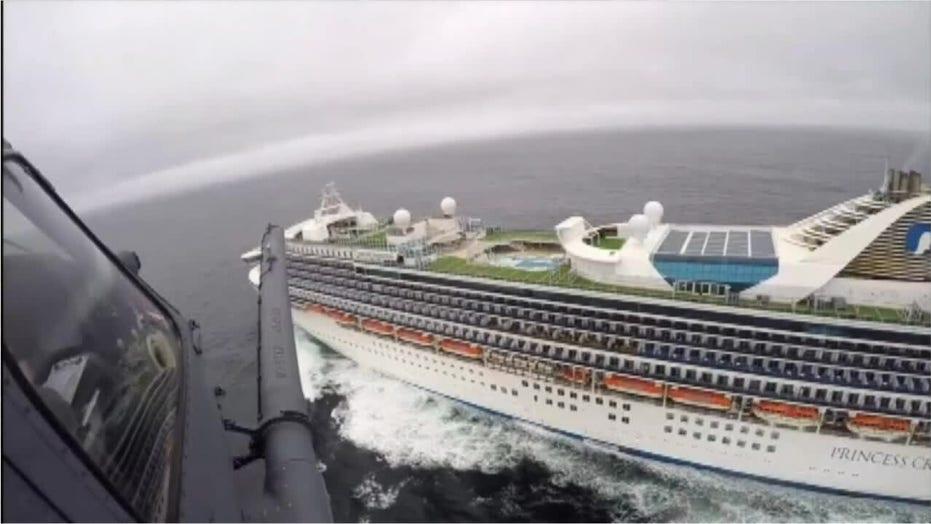 California National Guard delivers coronavirus test kits to cruise passengers stranded off coast