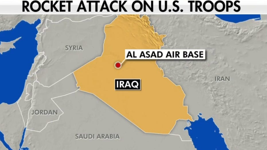 US troops in Iraq targeted in rocket attack