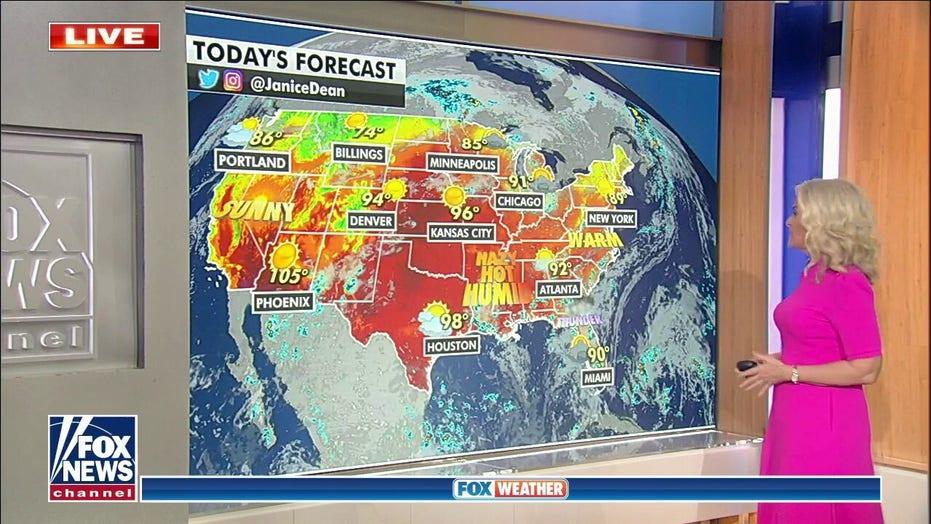 Heat wave emerges as Henri exits US