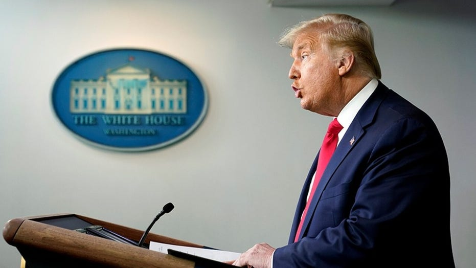 President Trump says Democrats are holding up COVID relief to the American people