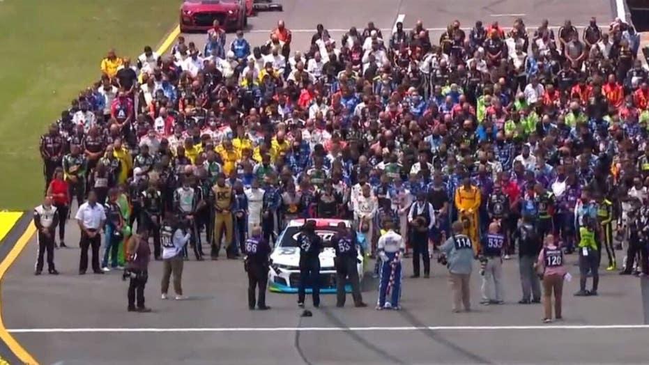 NASCAR gives Bubba Wallace show of support ahead of Geico 500 at Talladega  | Fox News