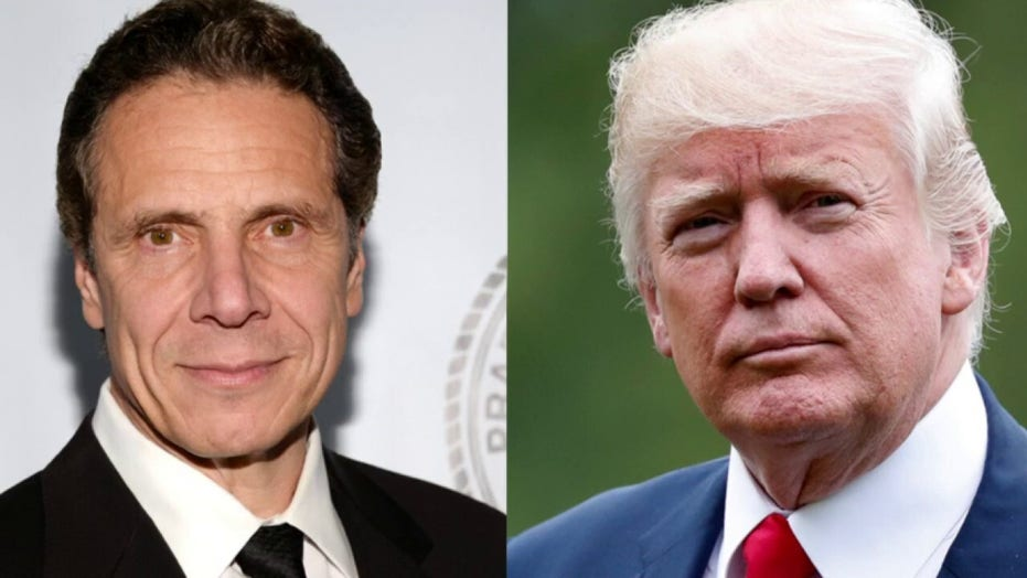 New York Governor Cuomo meets with President Trump