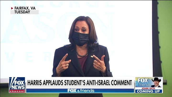 VP Harris under fire after student's anti-Israel 'ethnic genocide' comment