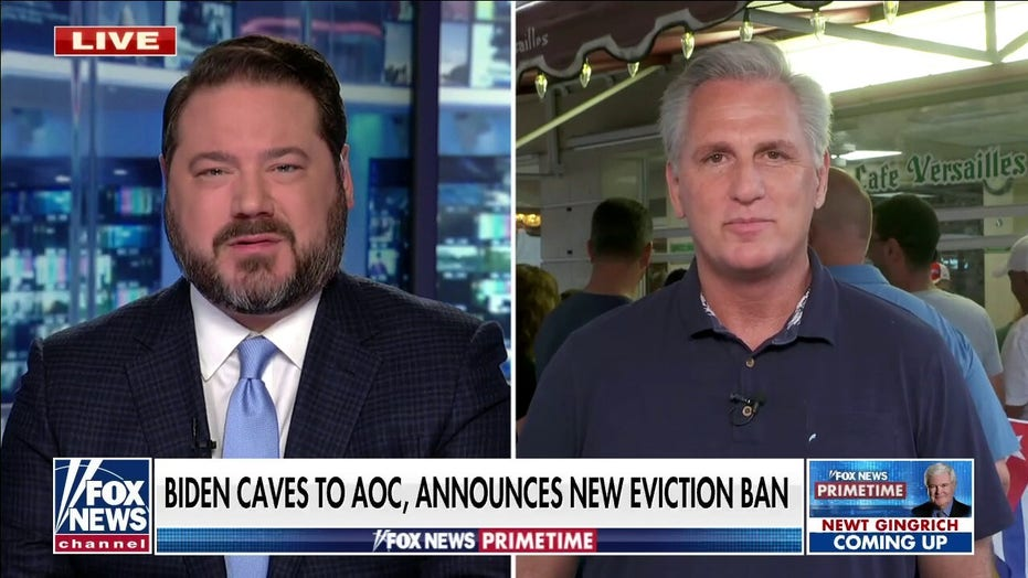 Kevin McCarthy: Biden eviction ban waging war on small businesses and 'breaking the constitution'