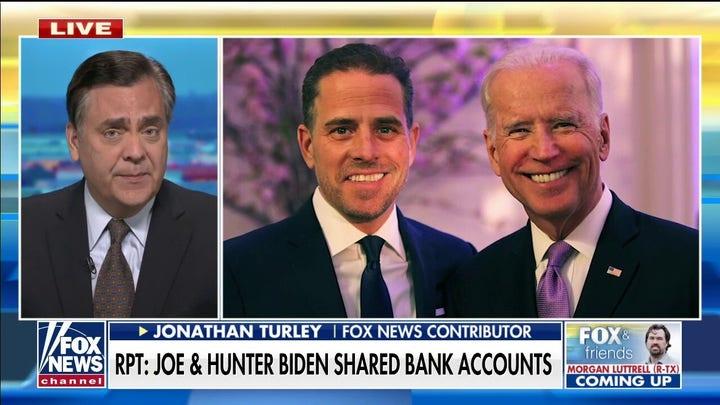 Report reveals Joe, Hunter Biden allegedly shared bank accounts