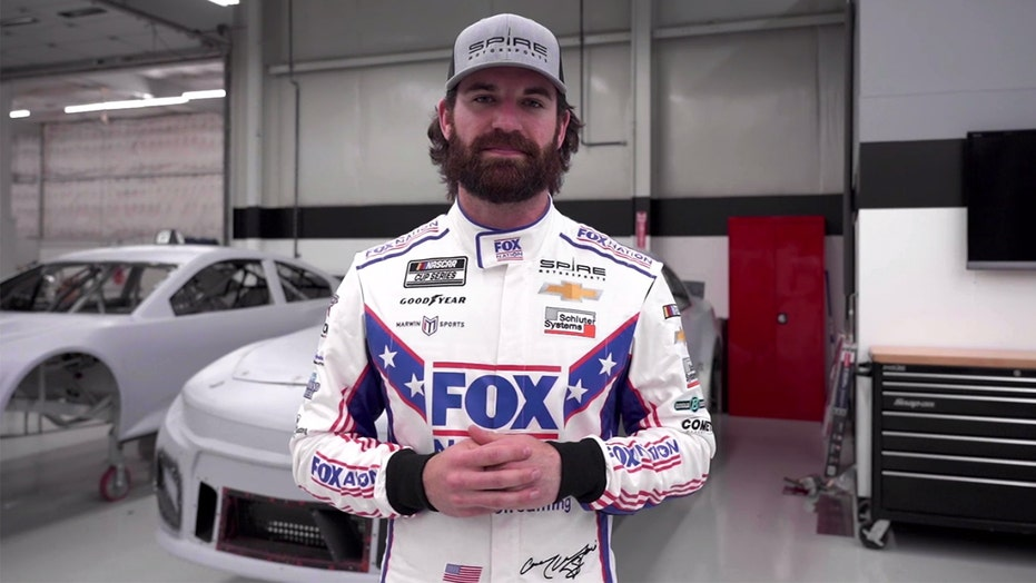 Fox Nation riding with Corey LaJoie in NASCAR Talladega Cup Series race