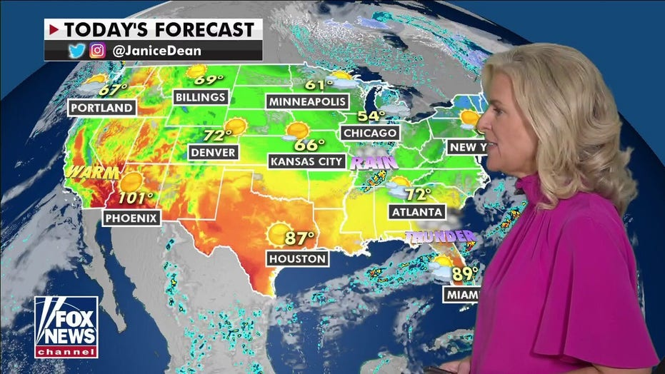 National weather forecast: Eastern US to see below-average temperatures this weekend