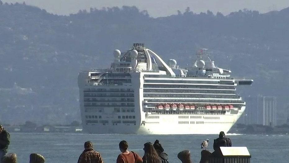 Grand Princess cruise ship with coronavirus patients docks in Oakland