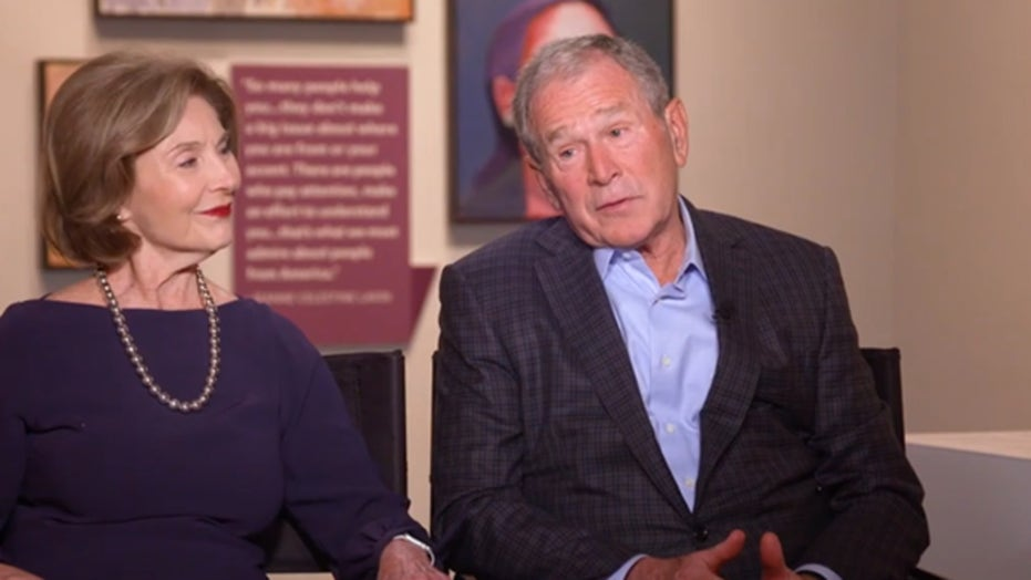 Inspired by Winston Churchill, George W. Bush tells Dana Perino his journey to becoming an artist