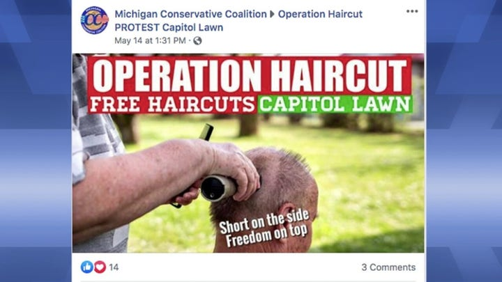 'Operation Haircut' protest begins in Michigan
