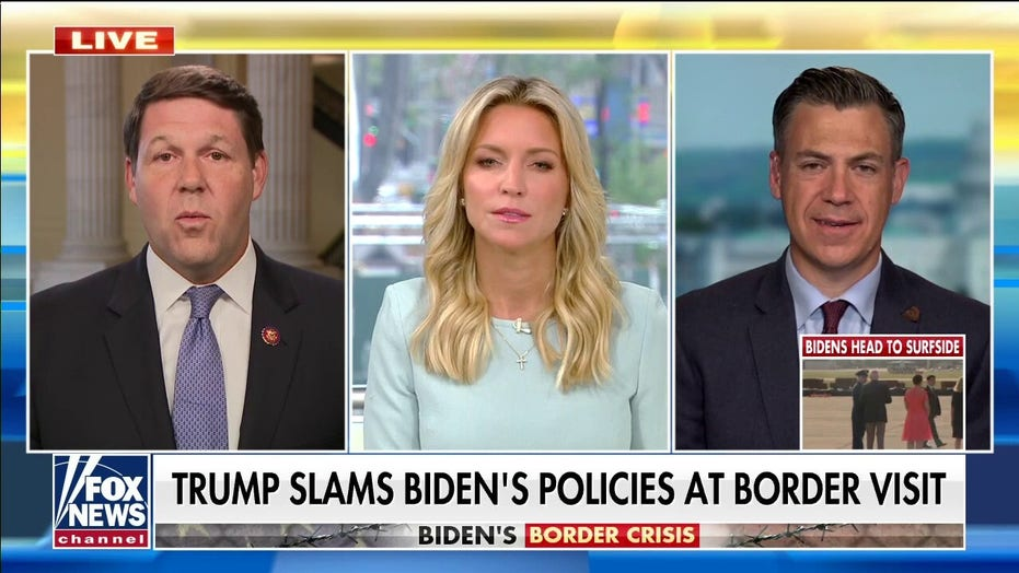 Former President Trump visits southern border with GOP leaders