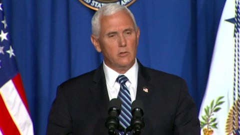 VP Pence: 'Early indications' coronavirus flattening in AZ, FL, TX