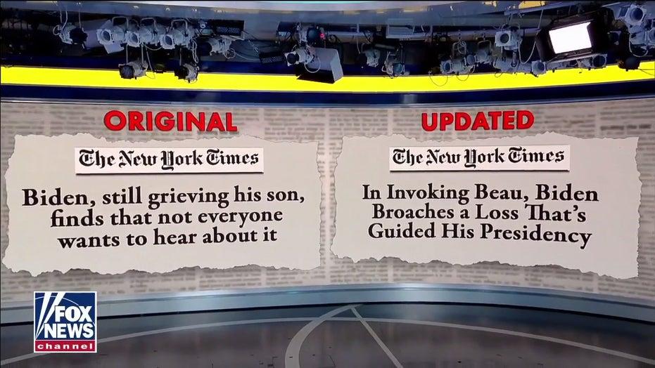 Lara Trump sounds off on 'double standard' after New York Times changes Biden headline