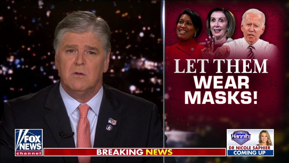 Sean Hannity: Mask mandates are coming back, unless you're a prominent Democrat