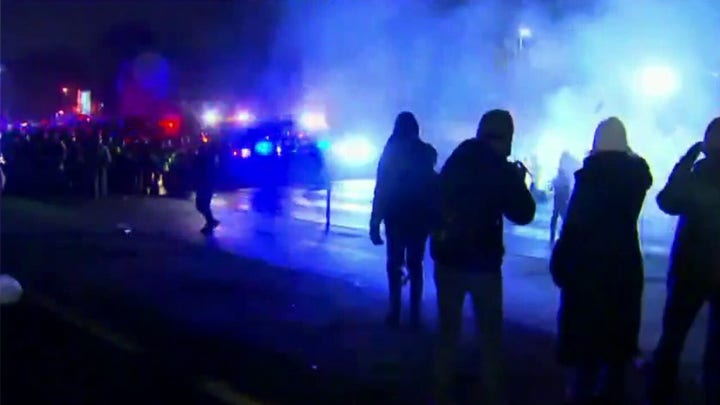 Demonstrators set fires in Brooklyn Center, unlawful assembly declared