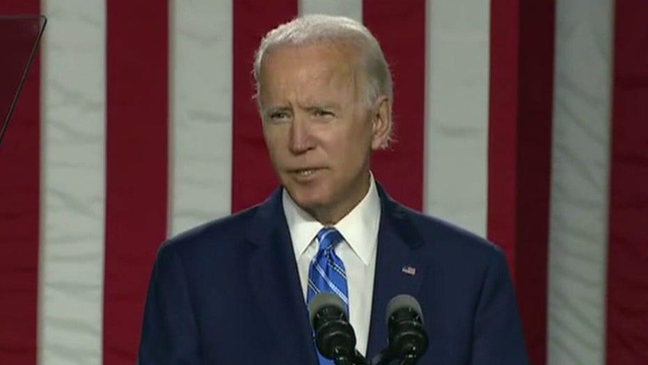 Biden calls out Trump's 'backward-looking policies'